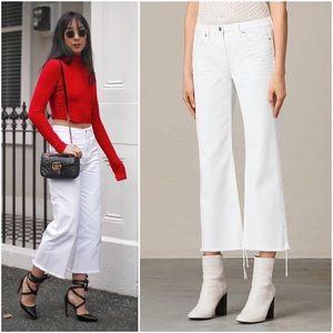 ALLSAINTS Belle Kick Flare Crop Fray Hem Jeans 26